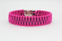 Halsband mit Clickverschluss in pink