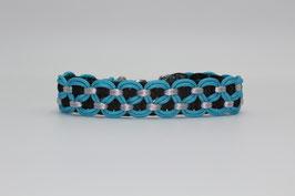 Halsband mit Clickverschluss in blau