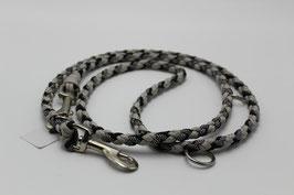 Leine aus Paracord in schwarz und grau