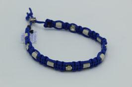 EM-Keramik Halsband in blau mit Perlen
