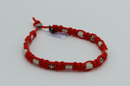 EM-Keramik Halsband in orange mit Perlen
