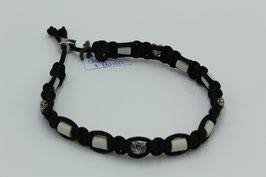 EM-Keramik Halsband in schwarz mit Perlen