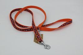 Führleine orange mit Webband