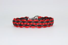 Halsband mit Clickverschluss in rot