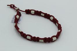 EM-Keramik Halsband in weinrot