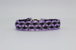 Halsband mit Clickverschluss in lila