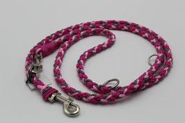 Leine aus Paracord in pink und rosa