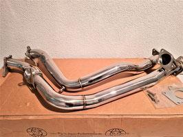 """Subaru Legacy 2.0L H4 Twin Turbo GT/GTB/Blitzen/B4/STi EJ206 EJ208 97-04 Downpipe Edelstahl Hosenrohr 2,5"""" (65mm) Decat Pipe"""