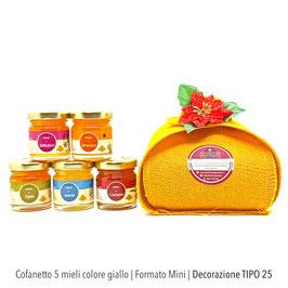 Cofanetto 5 mignon colore giallo | con Tarassaco | Formato mini