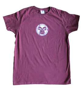 T-Shirt Slog art Burgundy