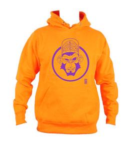 HOODIE Orange violet by SLOG ART 2 cercle