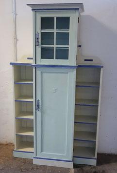 Küchenschrank, Weiß/Blau