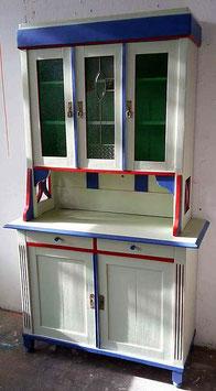 Küchen-Buffett / Küchenschrank mit Blei-Verglasung