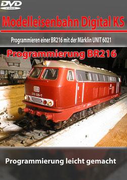 Programmieren einer BR216 mit der Märklin UNIT 6021