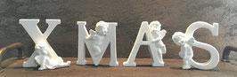 XMAS  mit Engelsbuchstaben