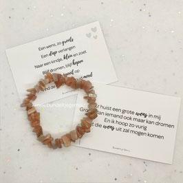 Maansteen armband peach