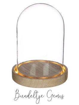 Stolp met verlichting 12 x 16,5 cm met lichte krassen
