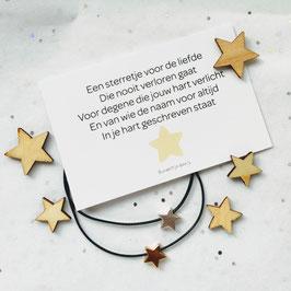 Mini kaart met ster armband