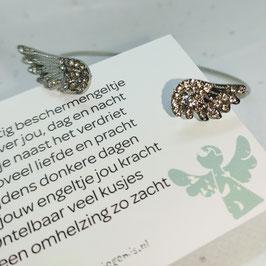 Mini kaart met armband vleugels