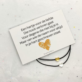 Mini kaart met hart armband