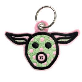 Schlüsselanhänger Superschwein