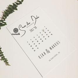 Save the Date minimalistisch.