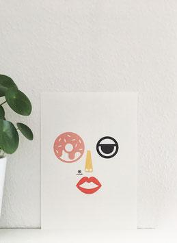 Gesicht & Donut.