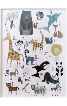 Poster ABC Tiere.