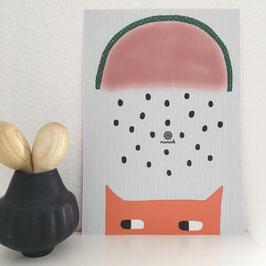 Fuchs mit Wassermelone.