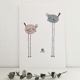 Zwei Vögel.