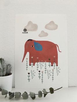 Roter Elefant.