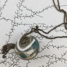 Sautoir perle de verre soufflé