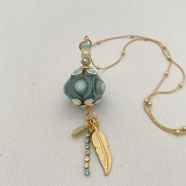 Sautoir perle de verre chalumeau