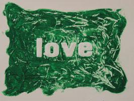 Love Glitter Verde 80x60 cm