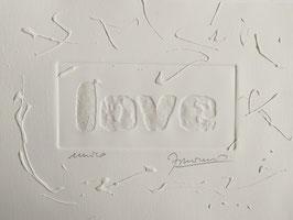 LOVE white on white