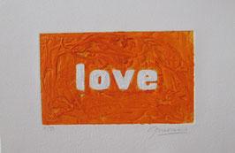 Love Glitter Arancio 40x30 cm
