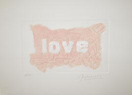 Love Glitter Rosa 40x30 cm