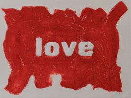 Love Glitter Rosso 80x60 cm