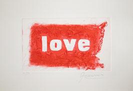 Love Glitter Rosso 40x30 cm