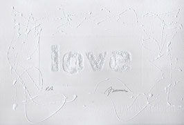 Love Glitter Bianco 80x60 cm