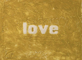 Love Glitter Ocra 80x60 cm