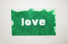 Love Glitter Verde 40x30 cm