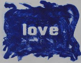 Love Glitter Blu 80x60 cm
