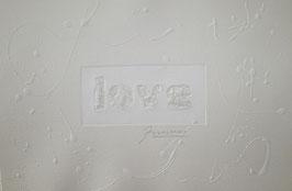 Love Glitter Bianco 40x30 cm