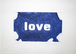 Love Glitter Blu 40x30 cm