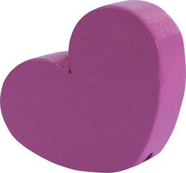 Motivperle, Herz groß rosa 3 cm