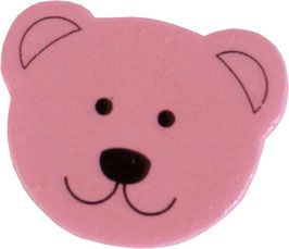 Motivperle, Bärenkopf rosa