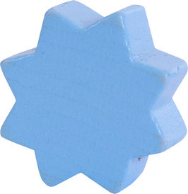 Motivperle, Stern babyblau ca. 2 cm