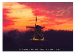 Bolwerksmolen - zonsondergang