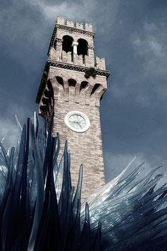 Der Glasturm | Echtes Leinenbild